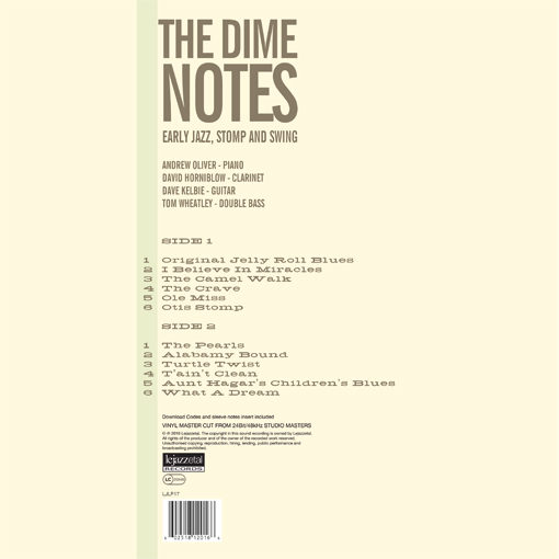 The Dime Notes vinyl cover art rear